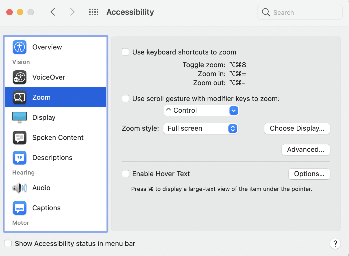 Go to the Zoom option and click on More Options. Why does my cursor disappear Mac?