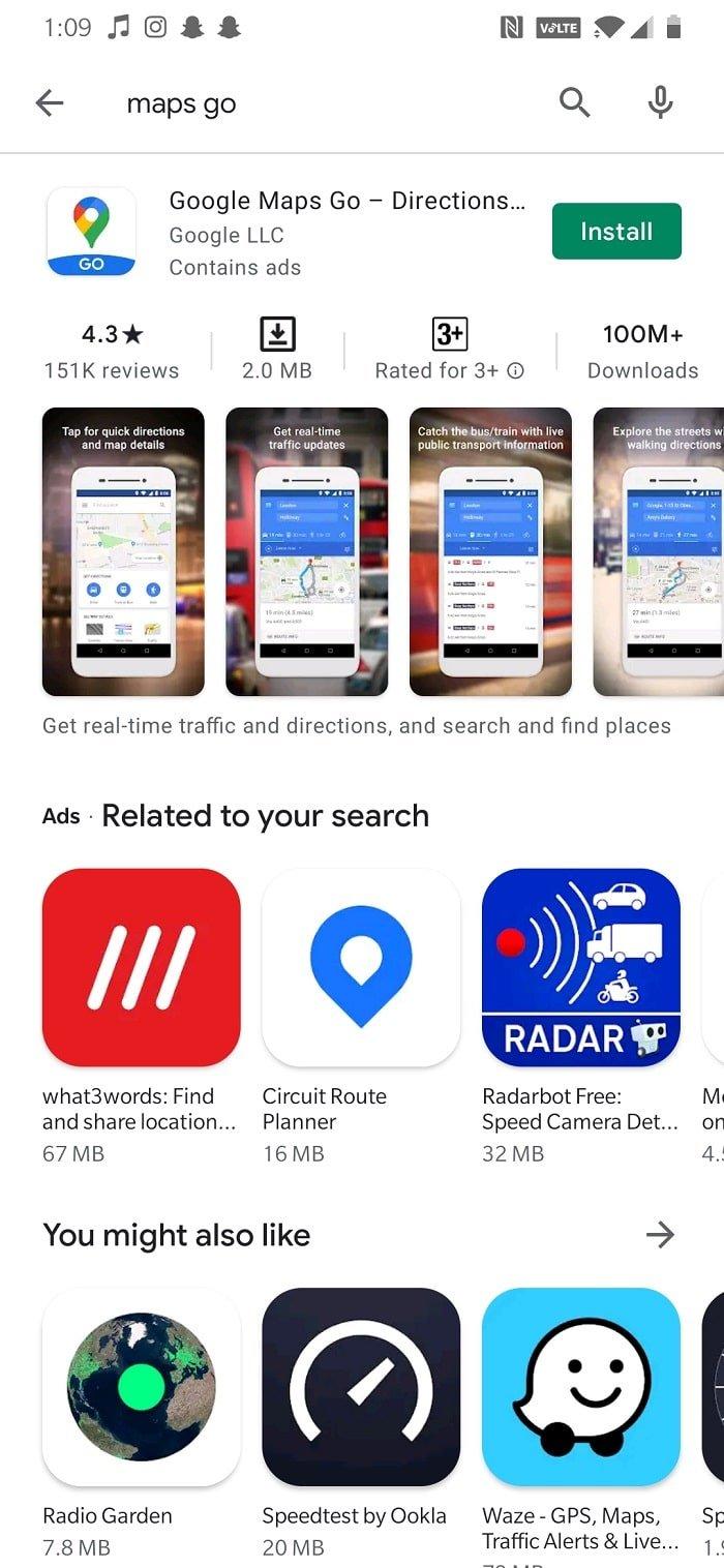 Install Google Maps Go  How to Fix Slow Google Maps