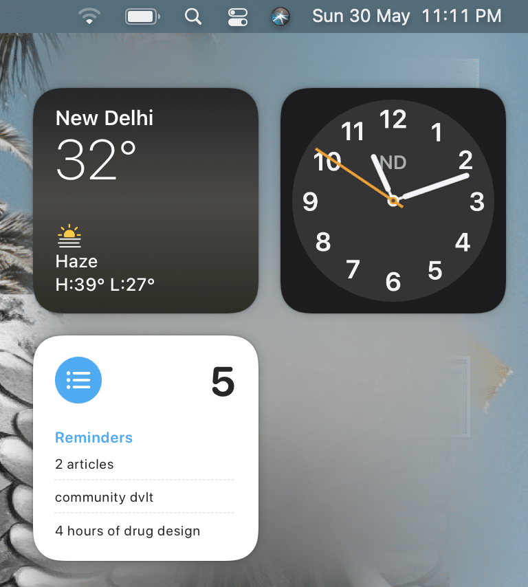 Launch the widgets menu by swiping right. Why does my cursor disappear Mac?