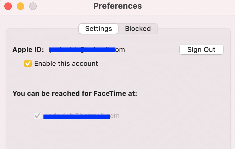 Make sure your Apple ID or phone number is Enabled | Fix FaceTime Not Working on Mac