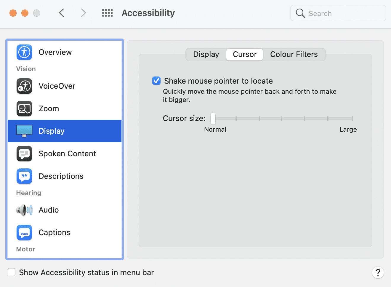 Manipulate the Cursor Size settings to make your cursor larger. Why does my cursor disappear Mac?