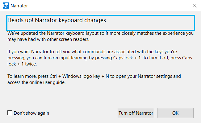 Narrator voice prompt. How to Turn off Narrator Voice in Windows 10