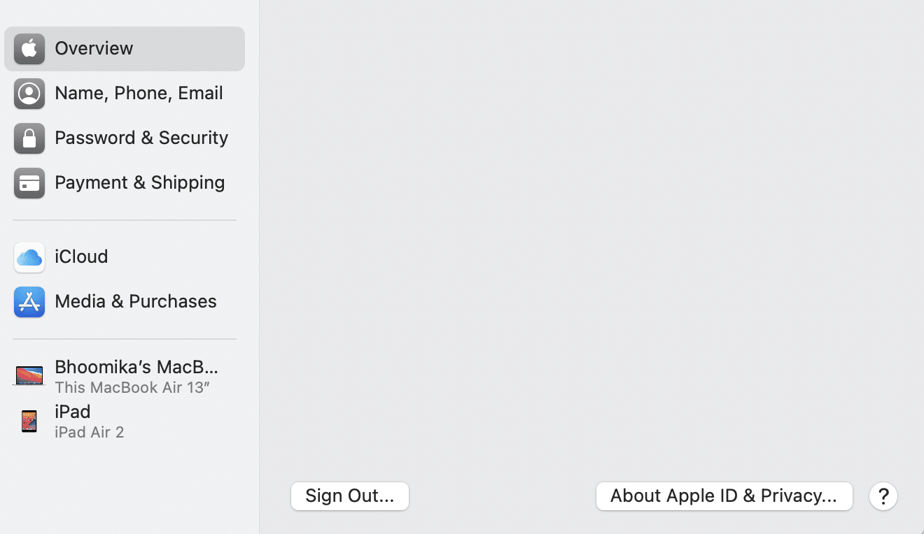 See a list of all the devices that are logged in using the same ID