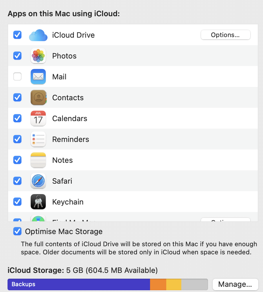 Select iCloud and uncheck the box near News. macOS Big Sur Problems