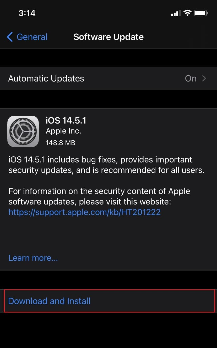 Tap on Download and Install to upgrade to the latest iOS version. Fix Invalid Response Received iTunes