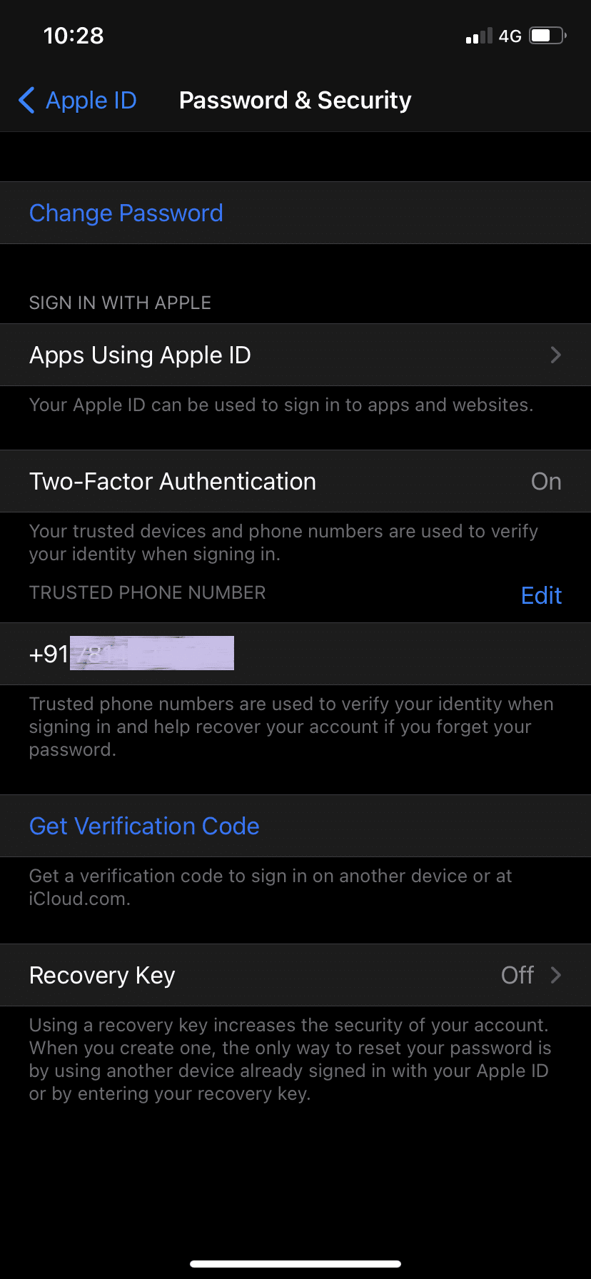 Tap on Two-Factor Authentication. How to Reset Apple ID Security Questions
