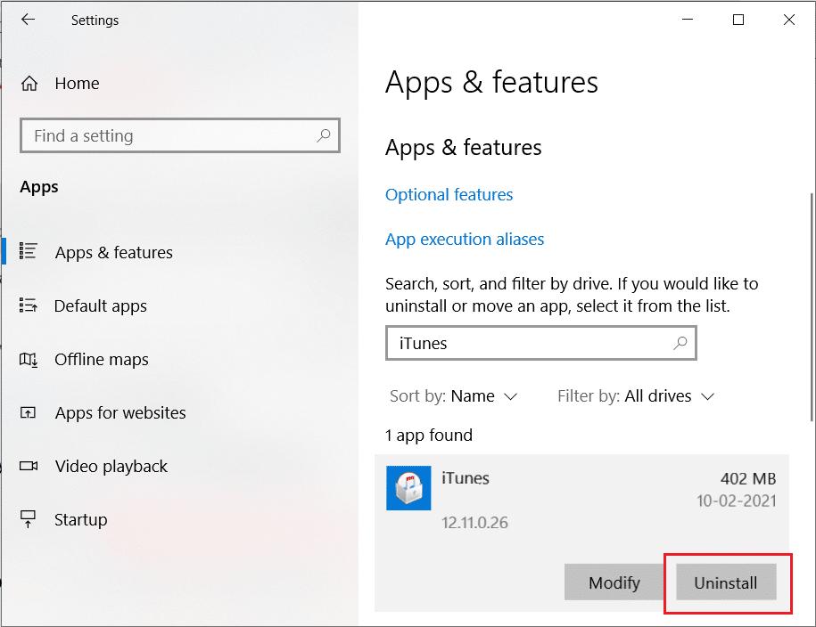 Uninstall iTunes. Fix Invalid Response Received iTunes