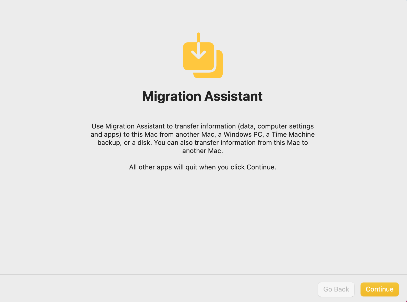 Migration Assistant. How to use Utilities Folder Mac