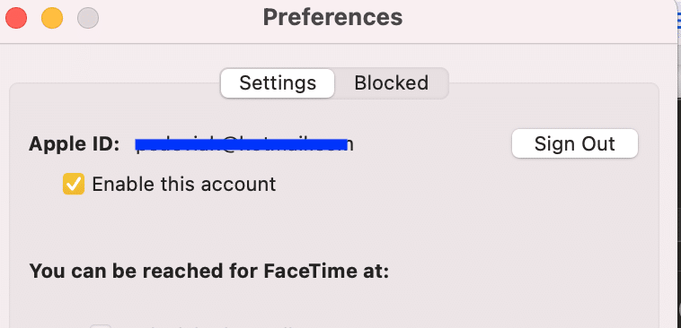 Toggle on Enable this account for your desired Apple ID. FaceTime activation error