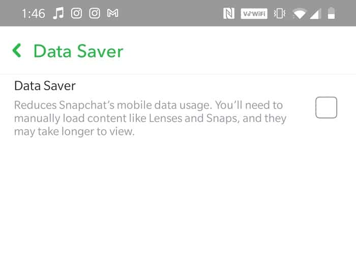 Toggle the Data Saver option off. why won't Snapchat download snaps