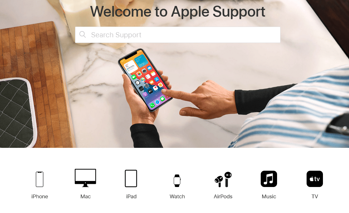 Type Contact Support in the search bar. How to Contact Apple Live Chat Team