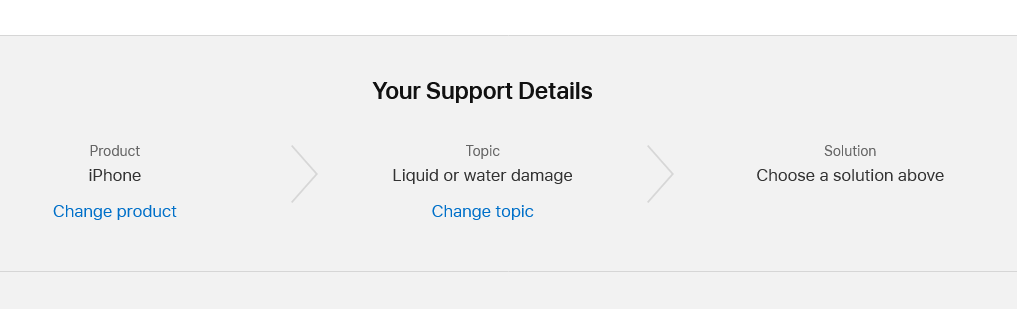 You can change the topic by clicking on Change under Your Support Details