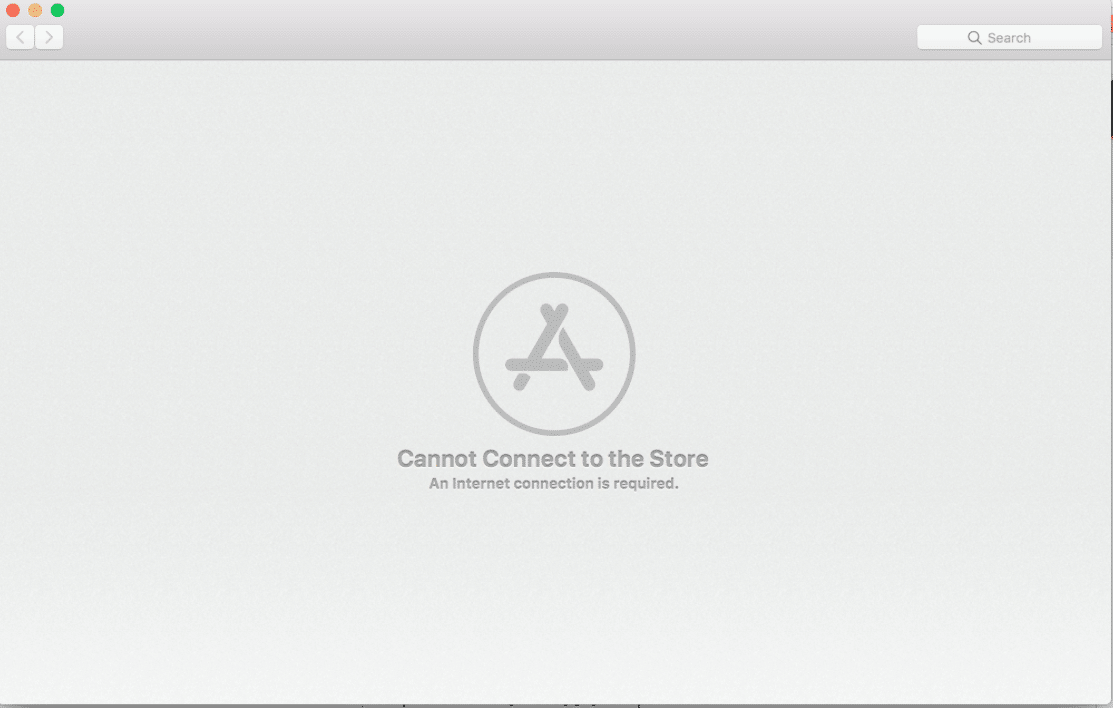 Fix Mac Cannot connect to App store