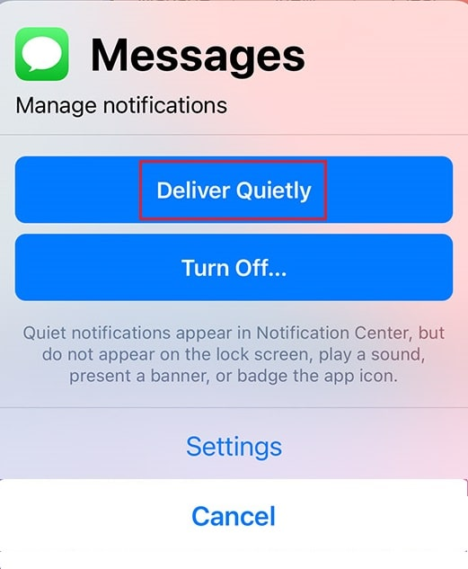 deliver quietly iphone. Fix iPhone Message Notification Not Working