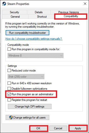 Finally, click on Apply then OK to save the changes. Fix No Sound On Steam Games