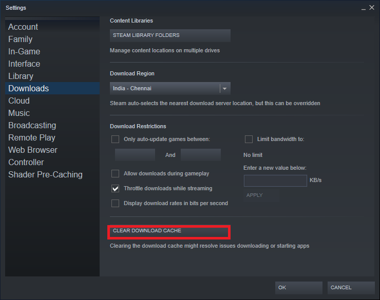 Steam CLEAR DOWNLOAD CACHE. Fix Steam Not Downloading Games