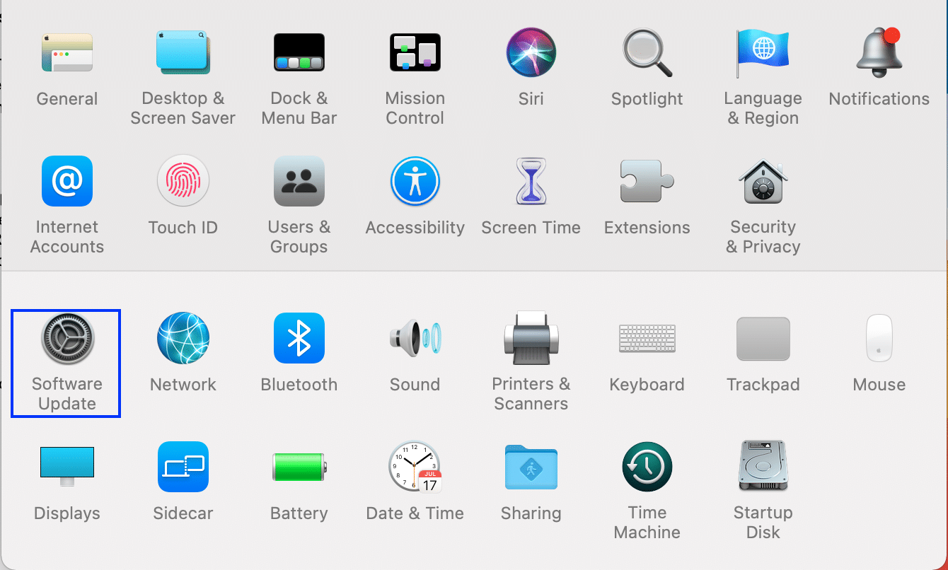 software update. Fix MacOS Big Sur Installation Failed
