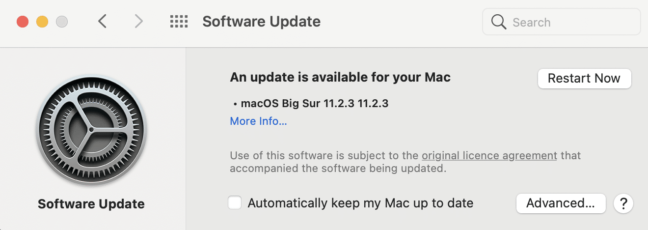 update available   Fix macOS Big Sur Installation Failed