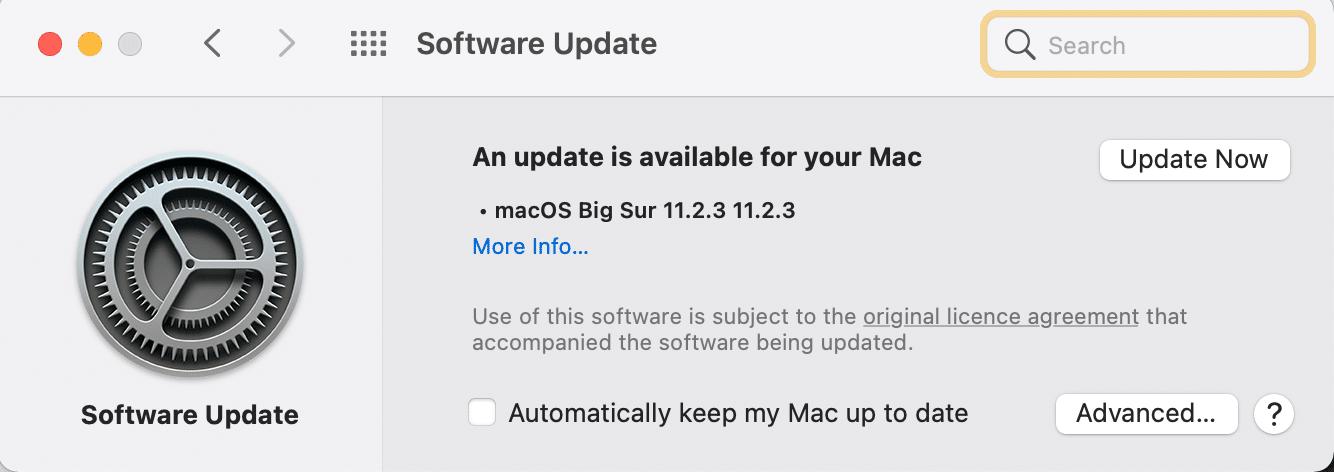 Update now   Fix Mac Software Update Stuck Installing