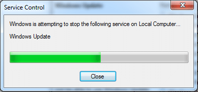 """You will receive a prompt, """"Windows is attempting to stop the following service on Local Computer…"""""""