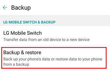 LG STylo 4 Backup and Restore