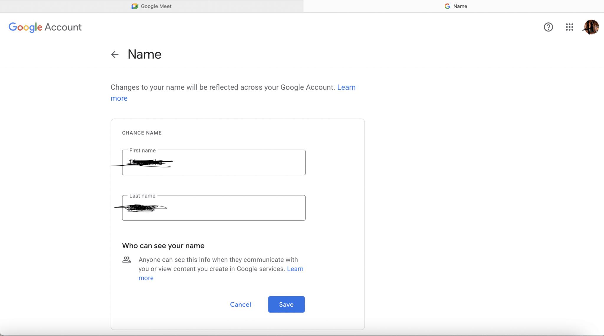 Click on Save. Google Meet Display Name