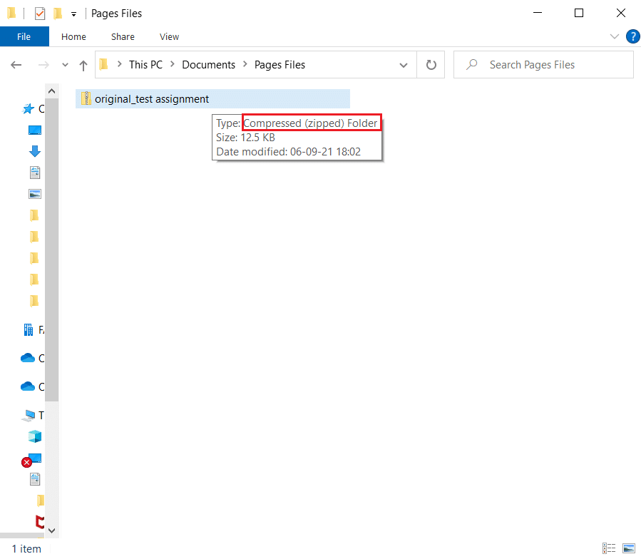 Convert pages file to zip file
