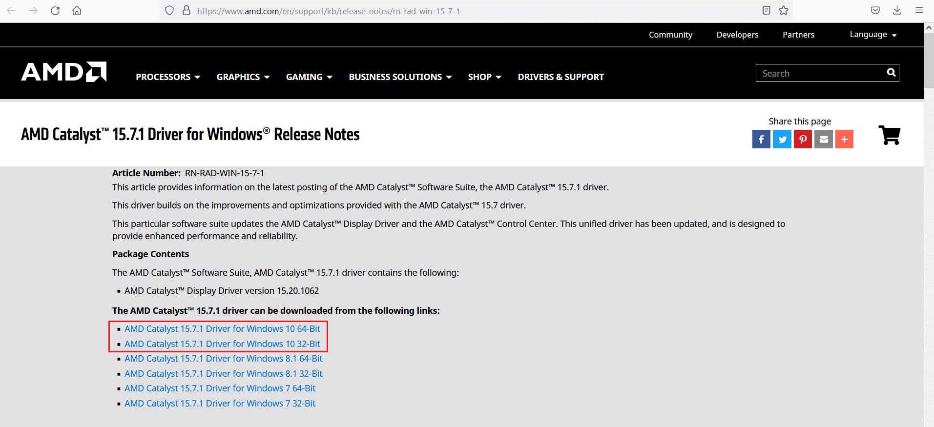 Download AMD Driver Windows 10