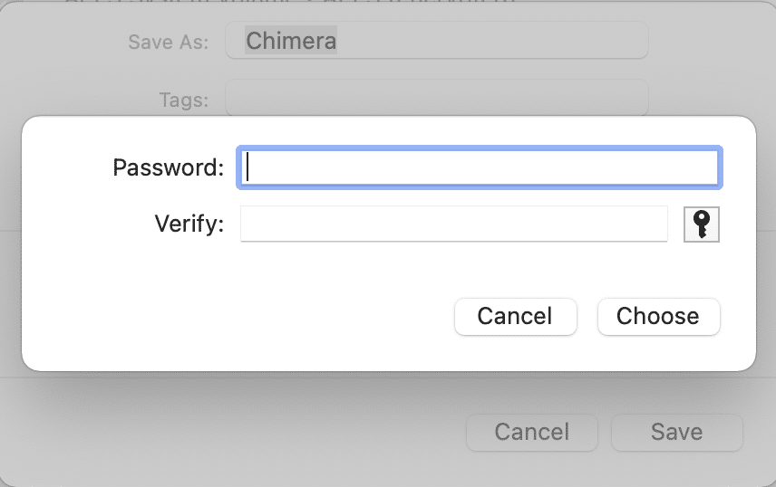 Enter the password that will be used to unlock the password-protected folder