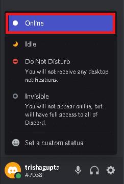 Discord Status Selector Online. Fix Discord Notifications Not Working