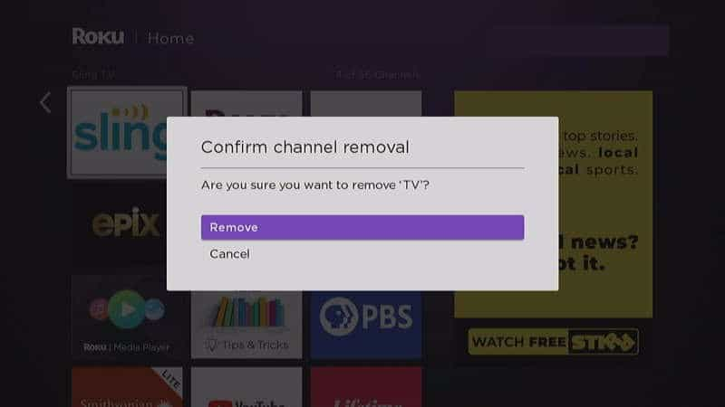 Remove Unwanted Channels from Roku