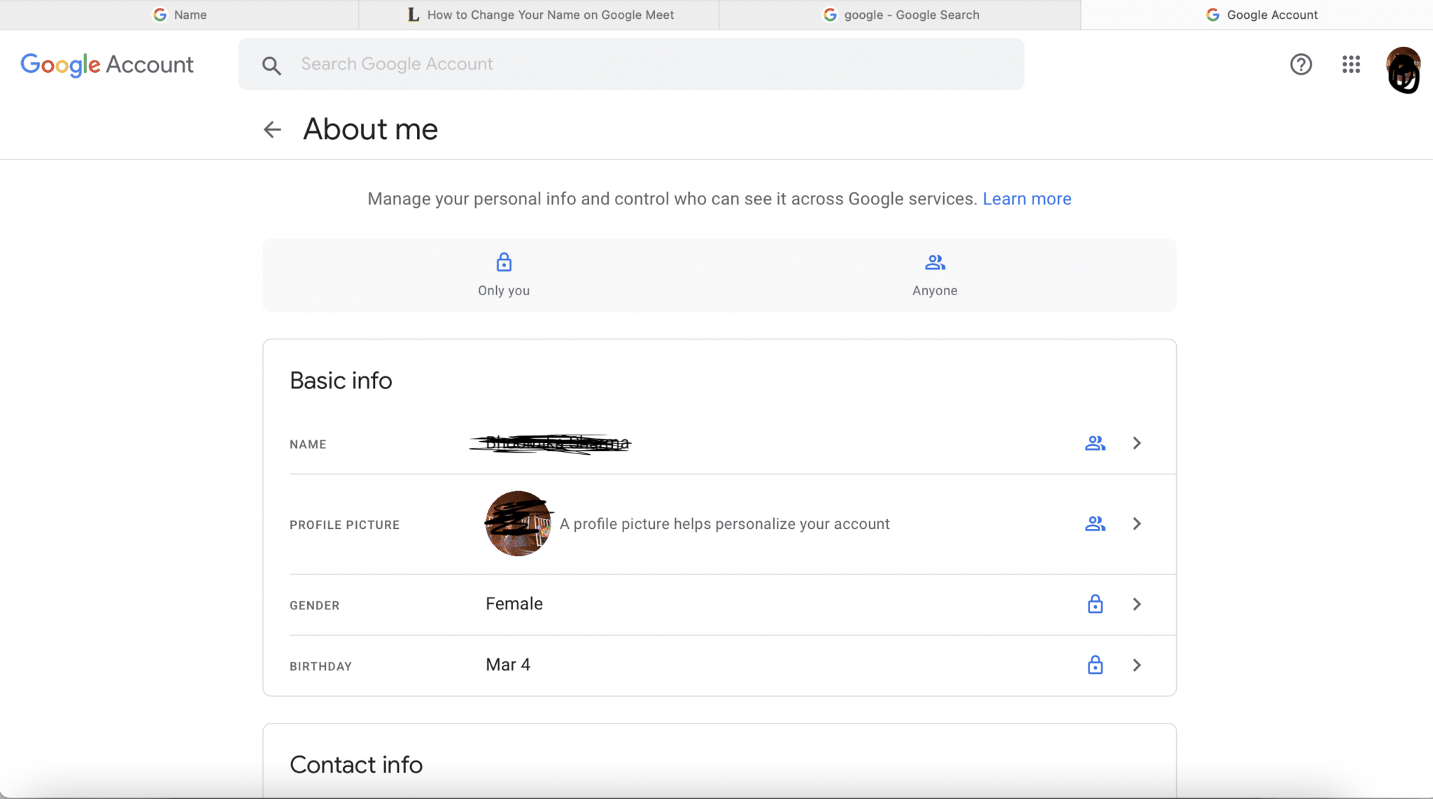 Sign in to your Google account and open the Accounts page   How to Change Your Name on Google Meet