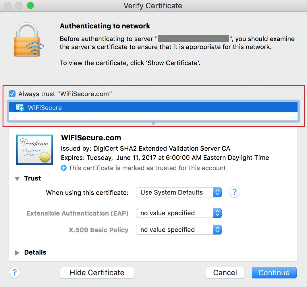 Use Keychain Access on Mac