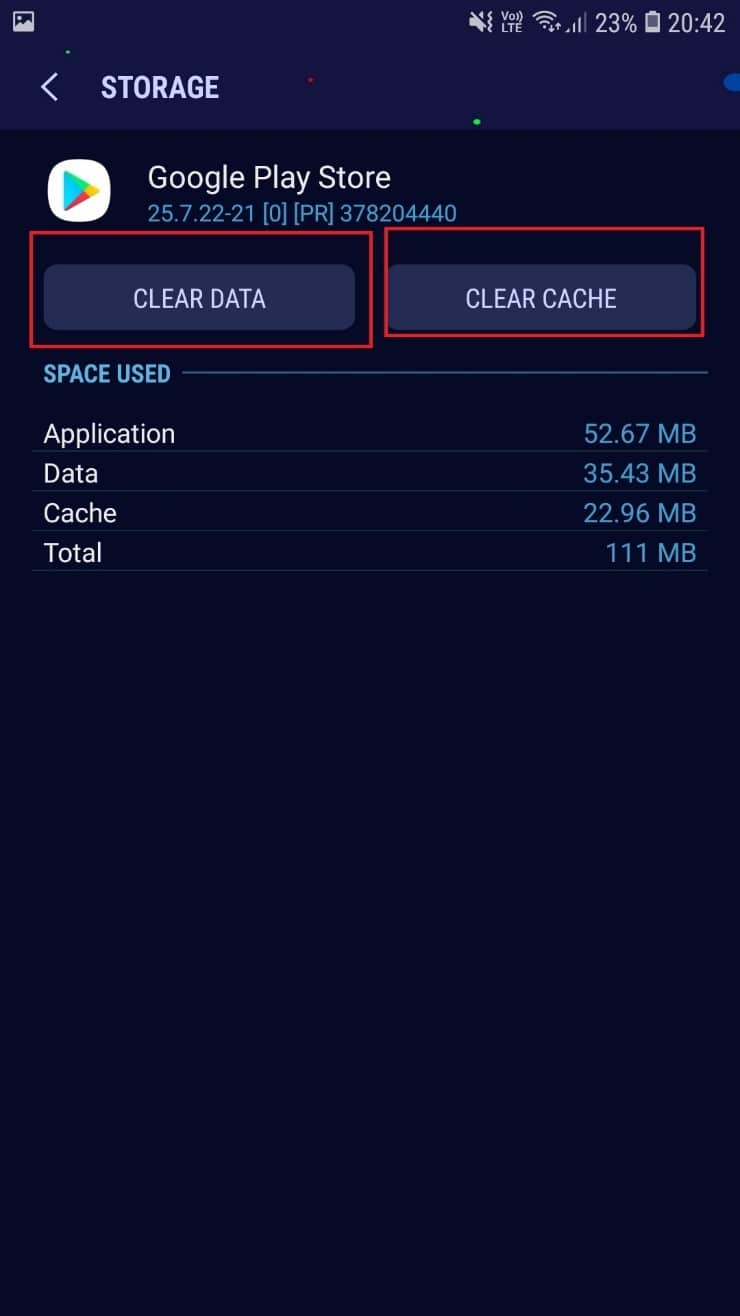 CLEAR CACHE CLEAR DATA. How to Fix Play Store DF-DFERH-01 Error