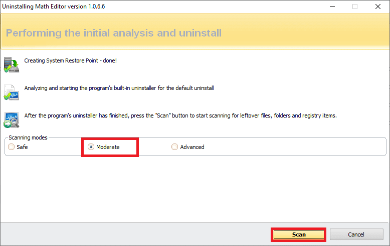 Click on scan to display all the lefover files in the registry. how to fix Hamachi Tunnel Problem in Windows 10
