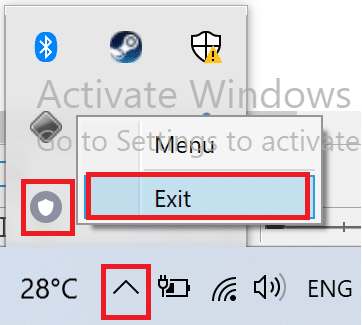 Exit VPN from taskbar. How to Fix Hulu Token Error 5