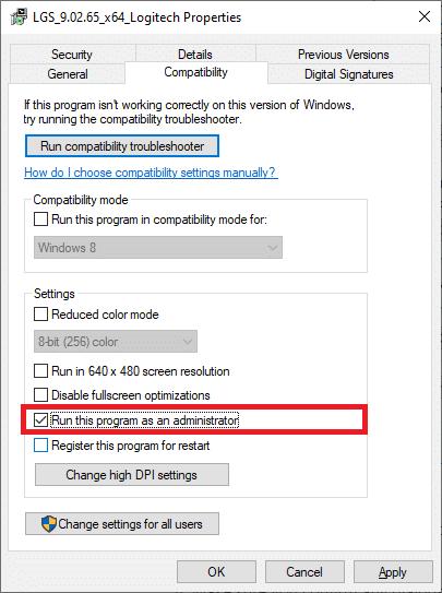Run this Program as an administrator. Fix Logitech Gaming Software Not Opening