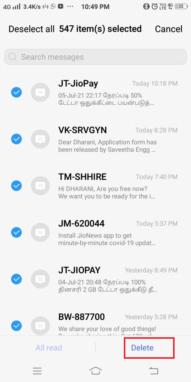 Finally, tap Delete . How to Fix Unfortunately, IMS Service has stopped on Android?