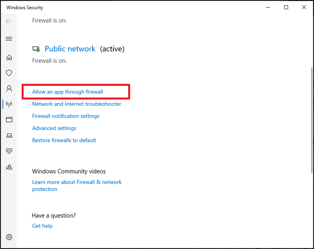 Here, click on Allow an app through firewall | How to Fix Logitech Gaming Software Not Opening on Windows PC