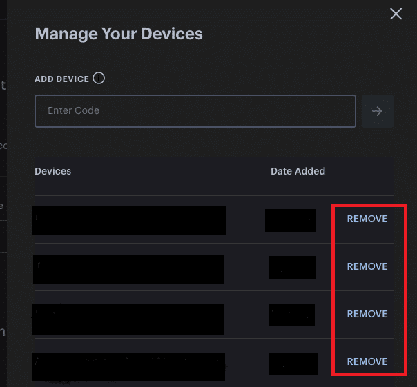Here, click on Remove for all linked devices