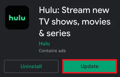 If an update is available on your device, tap the Update option   How to Fix Hulu Token Error 5