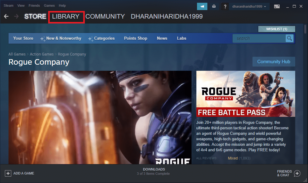 Launch Steam and click on LIBRARY   How to Open Steam Games in Windowed Mode