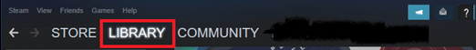 Launch Steam and navigate to LIBRARY. Fix Steam Application Load Error 3:0000065432