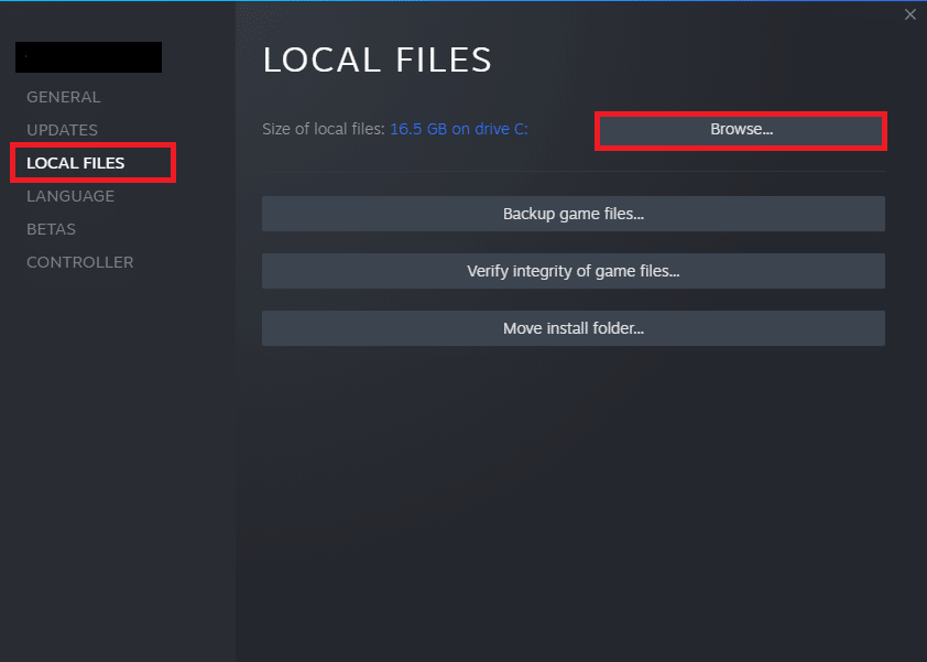 Now, navigate to the LOCAL FILES tab and click on the Browse… option to search for local files on your computer