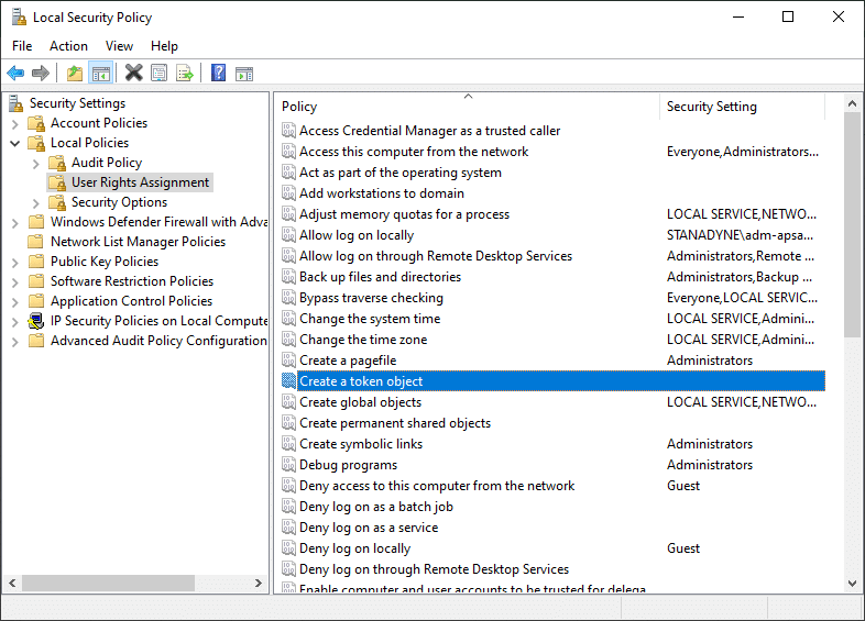The Local Security Policy window will open now. Expand Local Policies menu