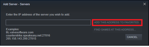 Then, click on ADD THIS ADDRESS TO FAVORITES option. How to Fix ARK Unable to query server info for invite Error